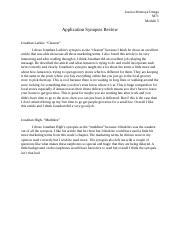 Application Synopsis Review 5