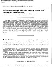 The Relationship between Family Firms and Corporate Governance.pdf