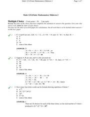MATH 1251 Winter 2008 Midterm 2 Solutions