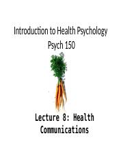 8. Health Communications