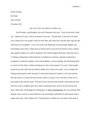 Research Paper on Love