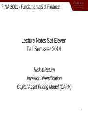 3001SET11fall14_Risk_and_Return.ppt