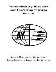 pastors and elderss handbook youth min seventh day adventist rh coursehero com Youth Ministry Logos Youth Ministry Ideas