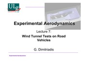 Wind Tunnel Testing of Road Vehicles
