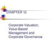 Chapter 13- Powerpoint presentation on Ch. 13 - Corporate Valuation