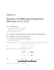 Chapter3 Solution of Differential Equations