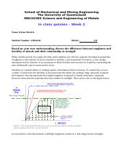 MECH3305 Toughness and Ductility of Metals