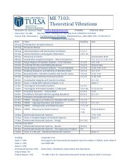 Course Outline for Theoretical Vibrations - 2016.docx