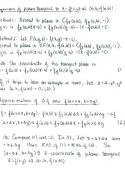 Equation Tangent to Plane