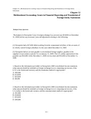 Ch 11- Multinational Accounting Foreign Currency Transactions and Financial Instruments