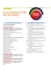 IT 101 - Chapter 6 TELECOMMUNICATIONS AND NETWORKS