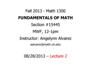 Lecture 2 - Math 1300 - 082813 - FILLED