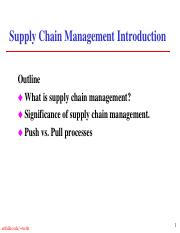 Supply Chain Introduction