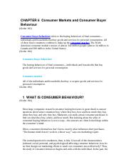 CHAPTER 6  Consumer Markets and Consumer Buyer Behaviour.docx