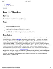 Lab 10 - Titrations