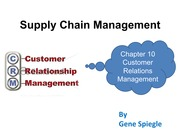 Chapter 10  Customer Relations Management