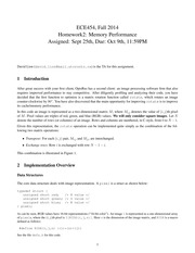 ECE454 Fall Official Homework II 2014
