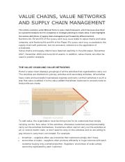 1 VALUE CHAINS