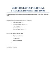 10-24 UNITED STATES POLITICAL THEATER DURING THE 1960S