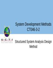 03 Week 2 UCTI Lecture 1  Structured System Analysis and Design Method