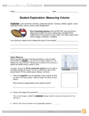 Empty the beaker into the 50 mL graduated cylinder Place the ...