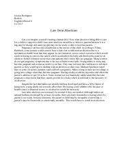 Late Term Abortions Essay.docx