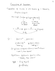 MATH 316 Composition of Functions Notes