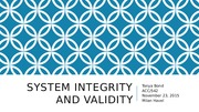 System Integrity and Validity powerpoint
