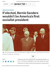 If elected, Bernie Sanders wouldn't be America's first socialist president - Quartz