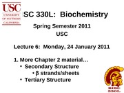 BISC 330 Spring 2011 Lecture 6