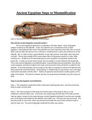 Ancient Egyptian Steps To Mummification.docx