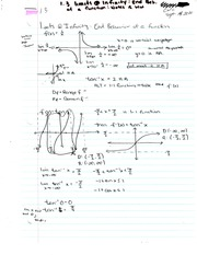 Chapter 1.3 Notes and Homework - Limits and Infinity