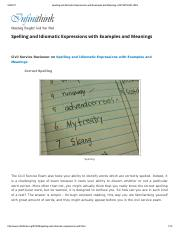 Spelling and Idiomatic Expressions with Examples and Meanings _ INFINITHINK.pdf