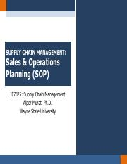 Chapter 9.1 - Sales & Operations Planning
