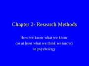 Chapter 2- Research Methods
