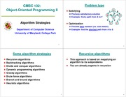 (25) Algorithm Strategies