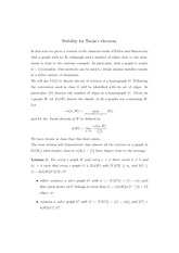 Stability for Tur´an's theorem