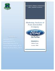 Marketing Report  on Ford.pdf