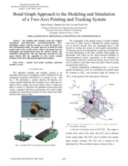 [epaper] Bond Graph Approach to the Modeling and Simulation of a Two-Axis Pointing and Tracking Syst