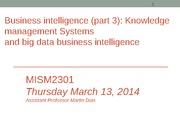 MISM2301 knowledge mgt & other BI systems (Session 24b)-Sec 4
