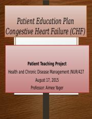 NUR-427- Health and Chronic Disease Management - Pt Teaching project.pptx