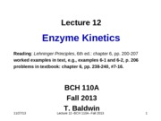 LEC12_EnzymeKinetics1without Clickers_2013