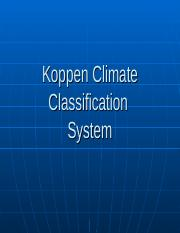 Koppen Climate Classification (1)