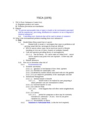 Toxic Substance Control notes