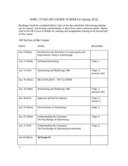 JOMC 137 AD COURSE SCHEDULE
