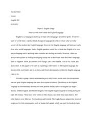 language and social class essay  sorcha vikter english  jacobs   pages french words within the english language essay
