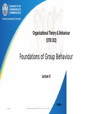 Lecture 7 Foundations of Group Behaviour  .pptx