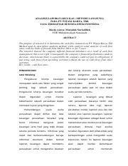 47720118 2 Pdf Analisis Laporan Arus Kas Metode Langsung Pada Pt Wijaya Karya Tbk Yang Terdaftar Di Bursa Efek Indonesia Rieske Anwar Mursidah Course Hero