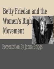 Betty Friedan and the Women's Rights Movement