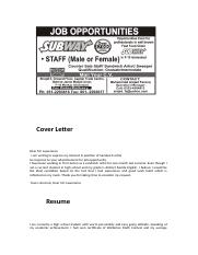 Resume cover letter, thanks letter ad.docx